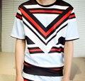 2016 Spring And Summer T Shirts 3D Print Space Cotton Palace Lattice Huoshao Flower Splash Male Fashion TShirt Short Sleeve Tops