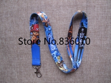 Hot Sale! 10 pcs Popular  Japanese Anime ONE PIECE  Key Chains Mobile Cell Phone Lanyard Neck Straps    Favors SZ-200