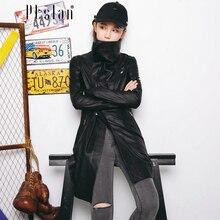 Ptslan Women s Genuine Lambskin Leather Jacket Real Leather Motorcycle Bomber Long Sleeve Zipper