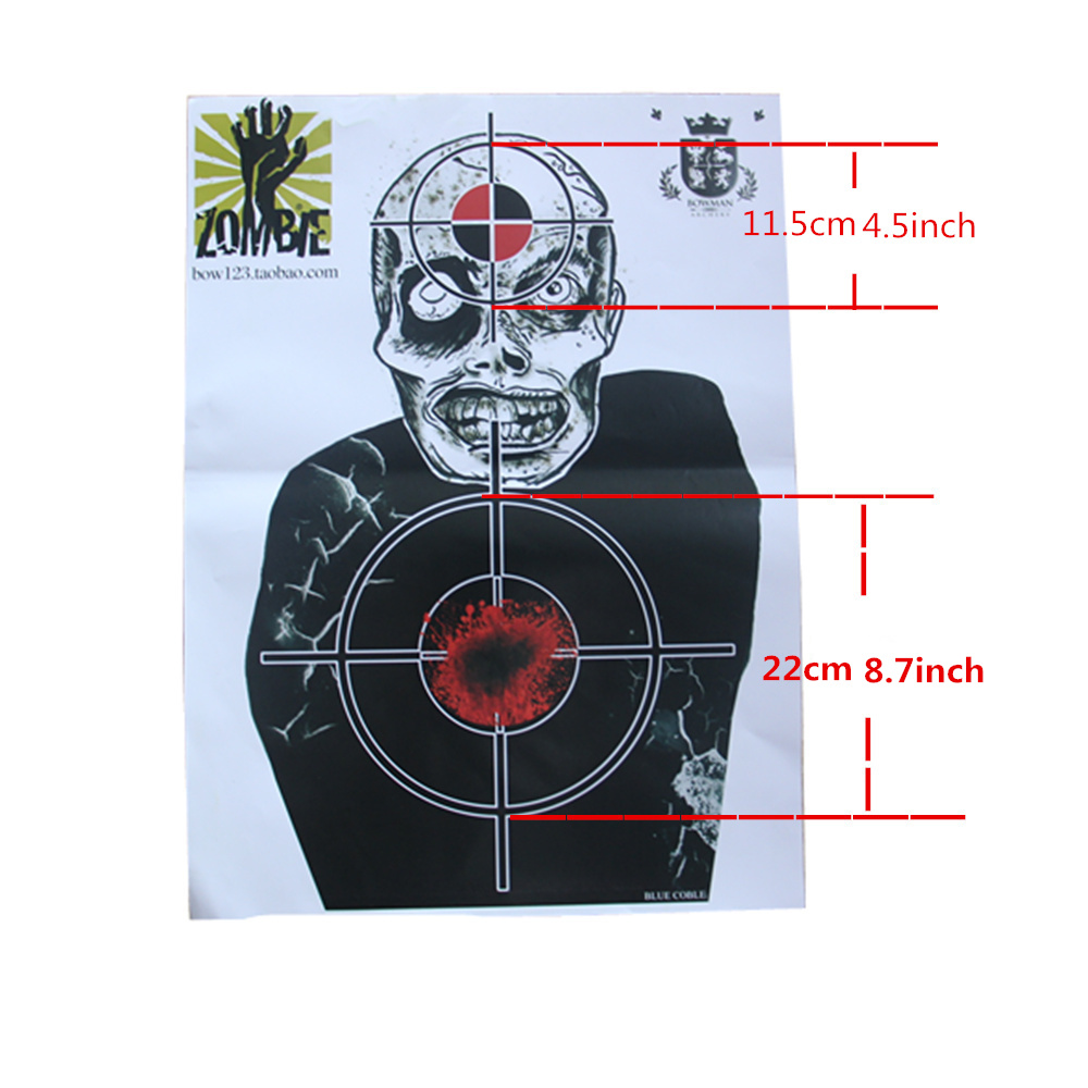 시체 목표 종이 슈팅 게임 및 기술 도전 목표 (10 팩)