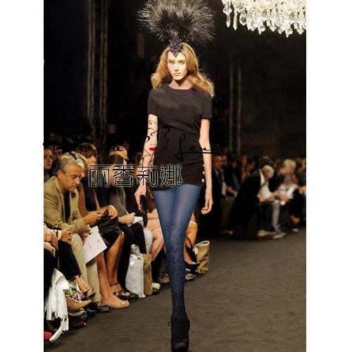 Meias de Impressão Hot Sale Limitada Mulheres Collants 2016 Moda Passarela Mulher Meia-calça de Veludo Collants Impressão de Cor E Mulheres