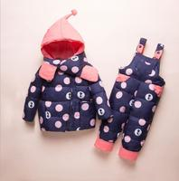 Kids Clothes Girls Boys Down Coat Children Warm Snowsuit Outerwear + Romper Clothing Set Russian children's Winter jackets