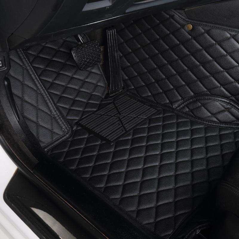 Auto voiture En Cuir tapis de Pied Pour bmw f10 x5 e70 e53 x4 f11 x3 e83 x1 f48 e90 x6 e71 f34 e70 e30 accessoires étanches
