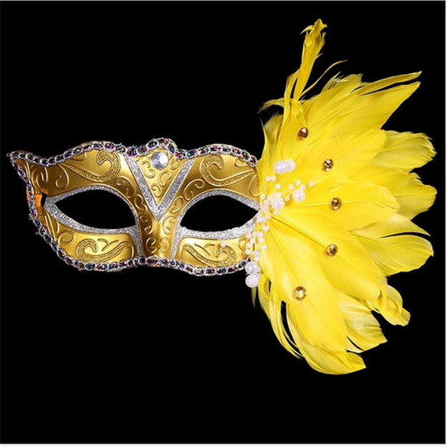 b77bf510aab9 Hot New Women feather Mask Girls Costume Sexy Prom Party Halloween Christmas  Masquerade Party Cosplay Dance Masks Accessories