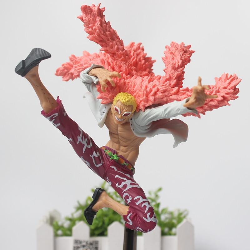 Japanese Anime One Piece Doflamingo Action Figure Donquixote Doflamingo battle ver. Collectible Model Toy anime one piece donquixote doflamingo figurine 15cm pvc onepiece joker figure collection model toys