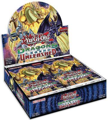 YuGiOh! Dragons de 3 rehausseurs déchaînés: 24 paquets x 5 cartes Holo!