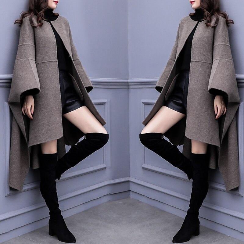 Cloak Woolen Long Wind Coat Windbreakers Casaco Feminino Stylish Large Size Cardigan For Women Clothes   Trench   Female Raincoat