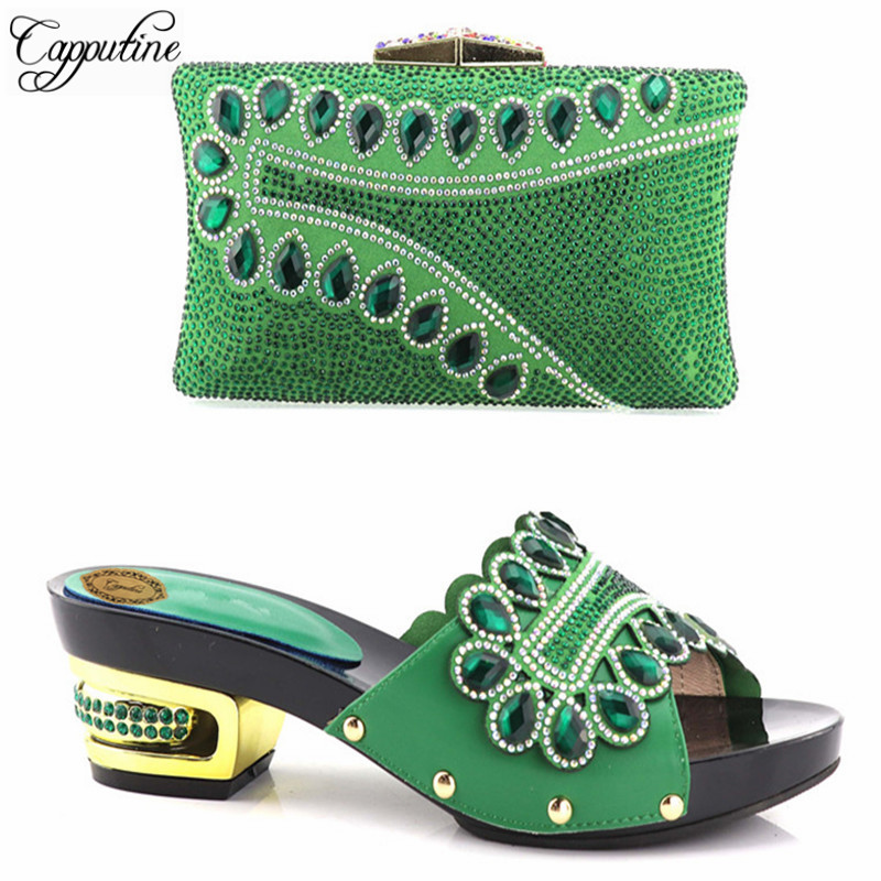 Capputine Hand Made Decorated Rhinestone Women Shoe and Bag Set in Italy Shoes And Bag Set African Sets Italian Matching Shoes fashion italy design italian matching shoe and bag set african wedding shoe and bag sets women shoe and bag to match tmm1 41