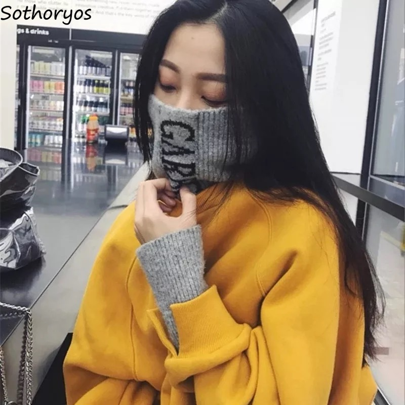 Hoodies Women Turtleneck Plus Velvet Warm Sweatshirt Student Thicker Loose Casual All-match Harajuku Long Sleeve Womens Simple