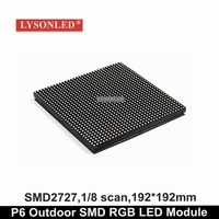 Waterproof Outdoor SMD P6 Full Color LED Module 192 192MM P6 Outdoor SMD 3 IN 1