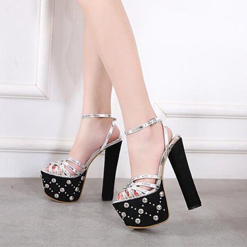 1 De Discothèque Grossier Mariage 18 Sandales Chaussures