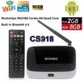 CS918 Android 5.1 TV BOX RK3229 Quad Core 2 ГБ Q7 Smart Mini ПК Google IPTV 2 Г 8 Г WI-FI Коди Streaming Media Player VS T95 TVbox