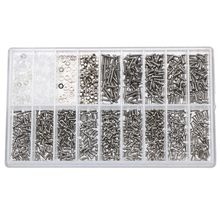 1000pcs Stainless Steel Micro Glasses Sunglass Watch Nuts Screwdriver Repair Tool Set Kits Spectacles Phone Tablet Screws tool(China)