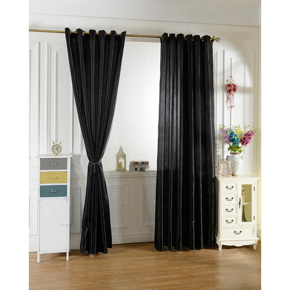 Curtains For Kids Boy Room Knight Horse Window Bedroom: 100*250 Black Curtain Window Curtains For Kids Boys Girls