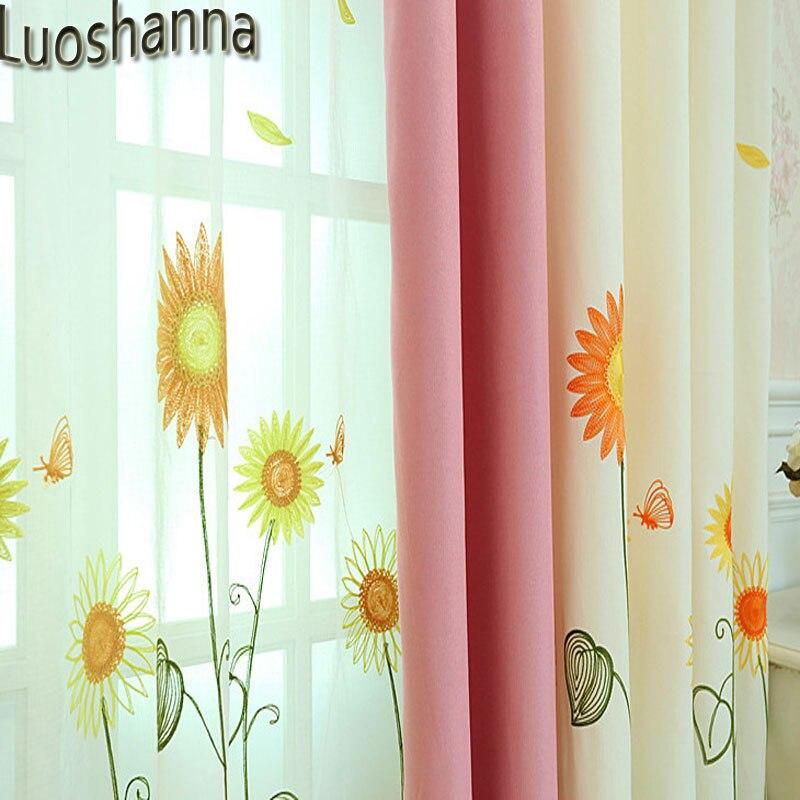 Sunflower Yellow Curtains Novocom Top