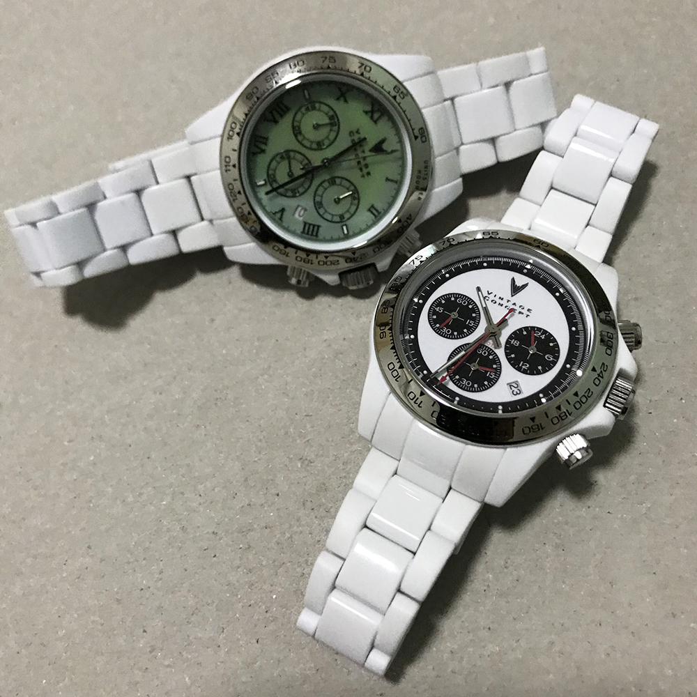 Vintage Concept Fashion Montre Quartz chronographe