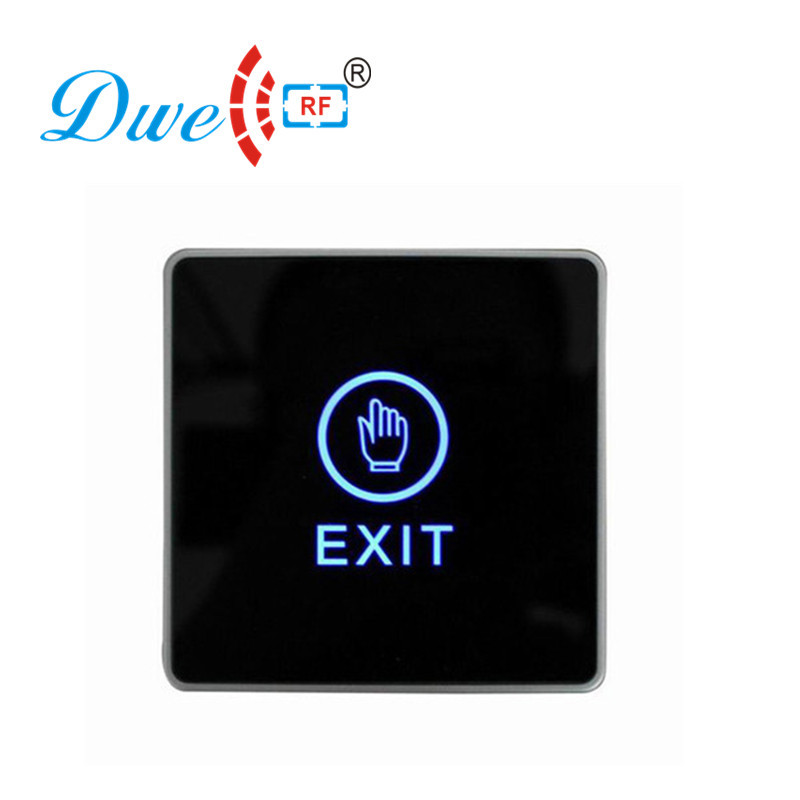 DWE CC RF 12V rfid access control system touch type infrared button for hollow door dwe cc rf access control hand shape no touch button infrared no nc com switch with 12v