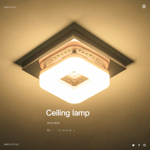 Image 2 - Modern Square Ceiling Lamp 3 Lights Changeable Dimmable Stainless Steel LED Ceiling Light for Entrance Small Room Warm White
