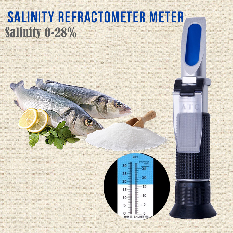 ATC Portable Salinity Refractometer Salinometer Food Salinity Concentration Meter 0-28% Food Addition Processing Measure Tool anna lafarg emily обеденный сервиз розовые цветы 27 предметов на 6 персон