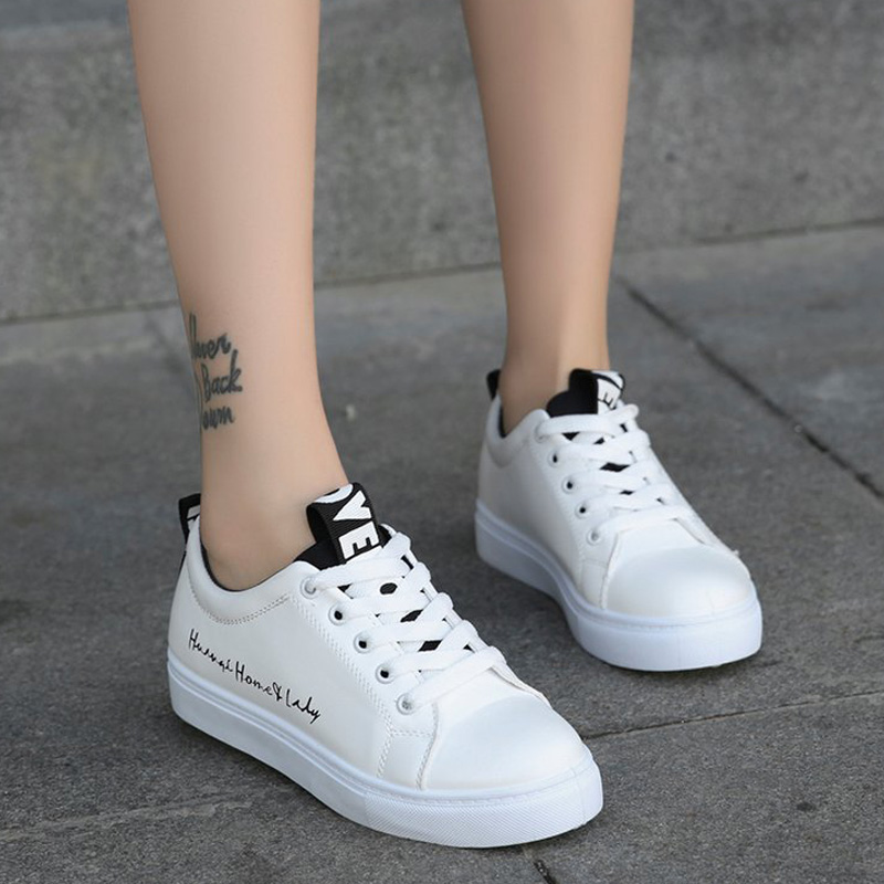 LAKESHI Women Vulcanize Shoes 2018 Summer White Student Board Shoes Women Casual Shoes Female Sneakers