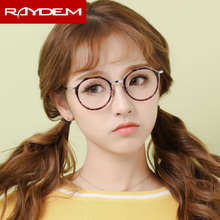 2018 New Finished blue light blocking Optical Glasses Alloy Round frame Myopia glasses Computer blaulicht gafas Nearsighted
