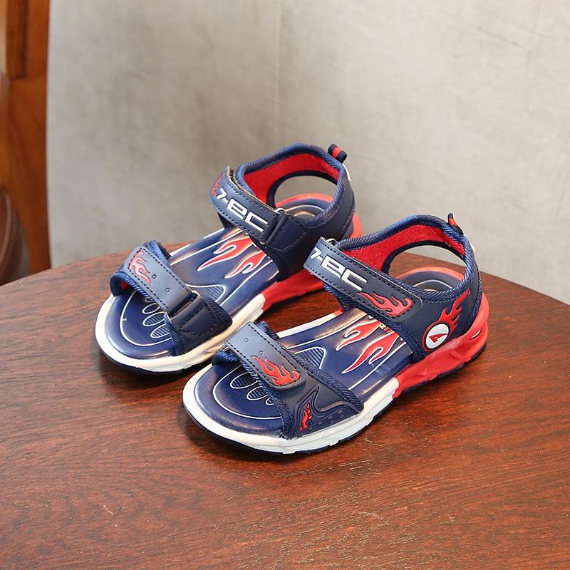 Kids girl summer blue artificial leather casual sport sandals kids ,sandal princess ,sandles for kids casual boys sandal