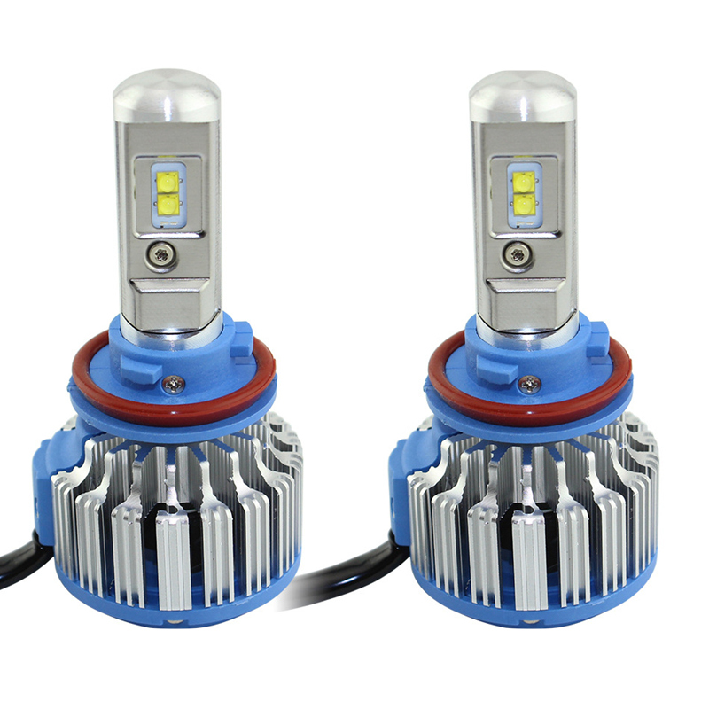 T1 H4 <font><b>Led</b></font> Car Headlights H7 <font><b>LED</b></font> H1 H3 H11 880 H13 9005 9006 9007 9004 80W 70W 7000lm Auto Front Bulb Automobiles Headlamp 6000K