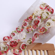3Yds Chiffon Flowers Three In One Water-soluble Lace Fabric Three-dimensional Banquet Gown Lace Fabric Lace Trim(China)