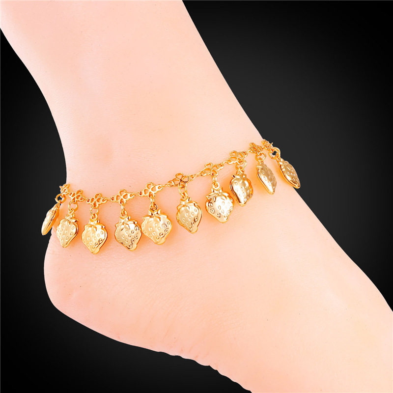 ankle etched normal charm lyst antic in metallic goldblack leg jewelry product forever bracelet