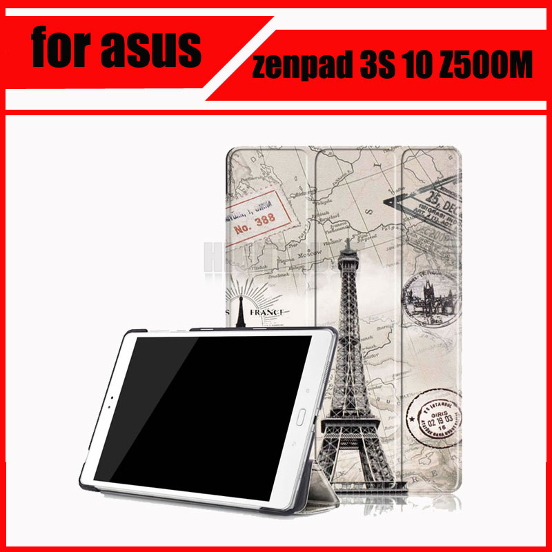 Magnetic Stand pu leather Case for asus zenpad 3S 10 Z500M Z500 2016 9.7