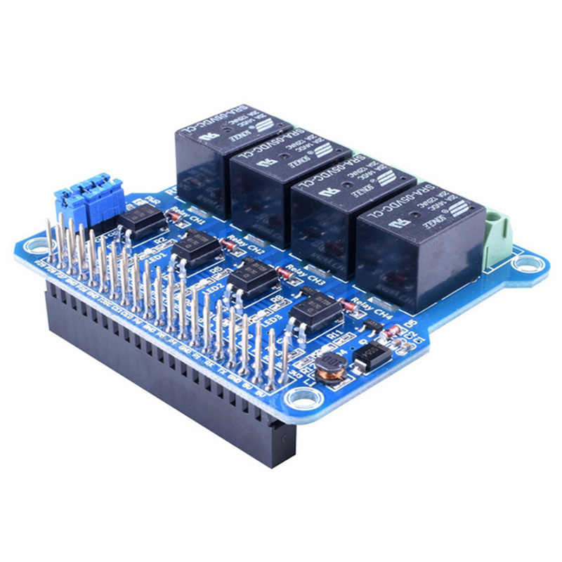 1PCS Raspberry Pi Power Relay Board Expansion Module Shield Supports RPi A+//B+//2 B//3 B for Home Automation Intelligent