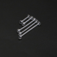 10pcs tongue nail ear bone barbell bar ring  transparent and pure color body decoration for men women Bioflex