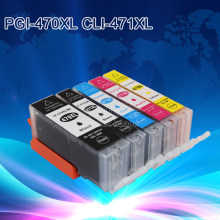 INKT MANIER 5X Compatibel Inkjet Cartridge Voor Canon PGI-470 CLI-471 PIXMA MG5740/MG6840 Printer Inktcartridge(China)