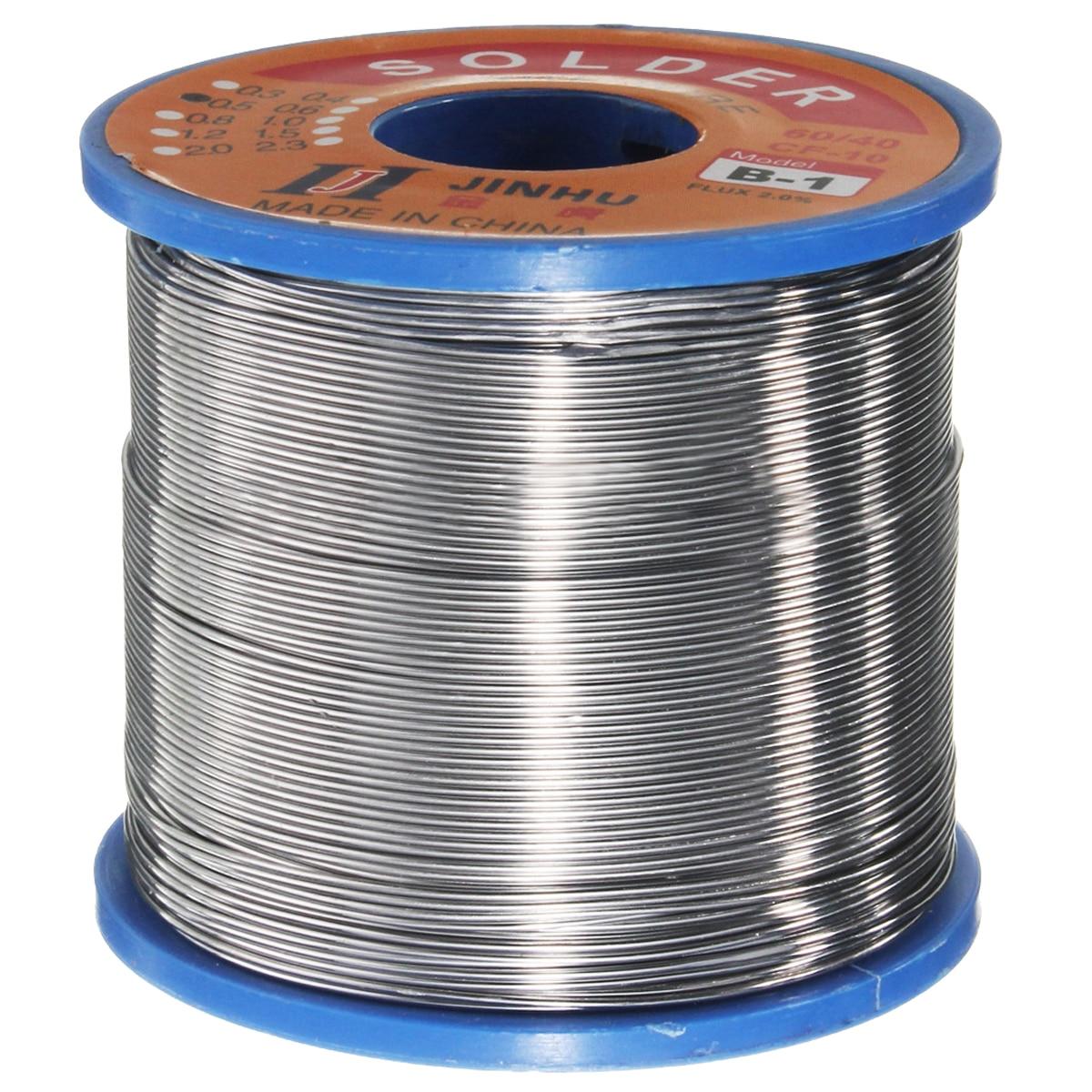 400g 60/40 de estaño soldadura de plomo de flujo de colofonia Core soldadura rollo de 0,6-1,2mm