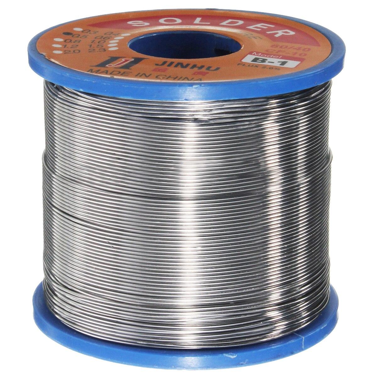 400g 60/40 di Stagno piombo Solder Flux Wire Rosin Core Saldatura Rotolo di 0.6-1.2mm