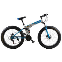 Fat Bike Folding Mountain Bike 26 Inch 21 Speed Before And After The Shock Absorber Bicycle
