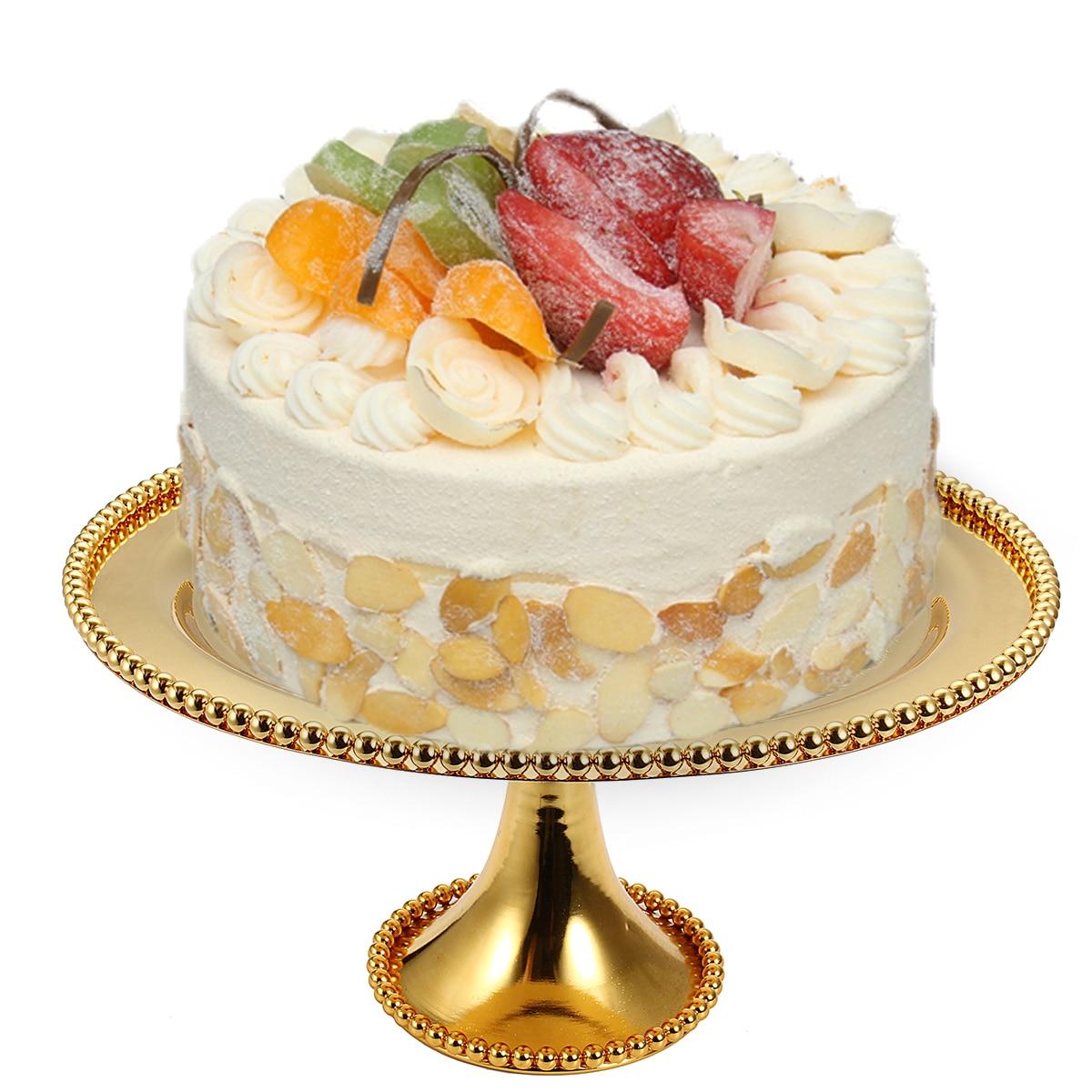 De luxe En Métal Gâteau Stand Cupcake Dessert Plateau De Décoration De Gâteau Outils Ustensiles de Cuisson Partie Affichage Titulaire De Mariage Décoration Or dans Béquilles de Maison & Jardin