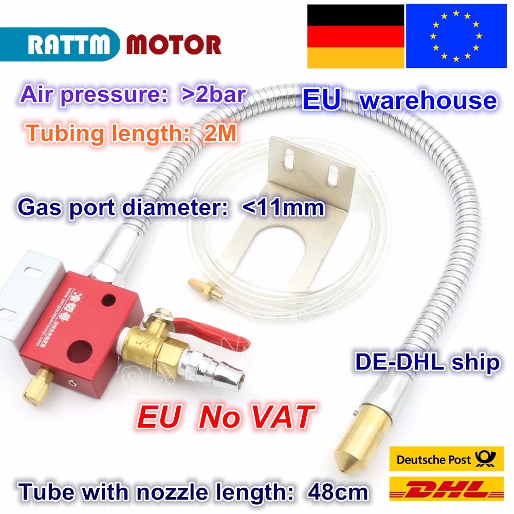 EU free VAT Mist Coolant Lubrication Spray System Metal hose Metal cooling water pipe not leak for CNC Lathe Milling Machine cardan cooling water pipe mist spray cooling water injection cooling for accessories stone jade plasma engraving machine
