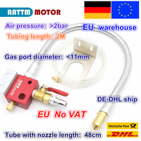 EU free VAT Mist Coolant Lubrication Spray System Metal hose Metal cooling water pipe not leak for CNC Lathe Milling Machine