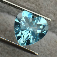 Heart Cut Natural Topaz Loose Stone Sky Blue Color Flawless Loose Stone Topaz For DIY Jewelry