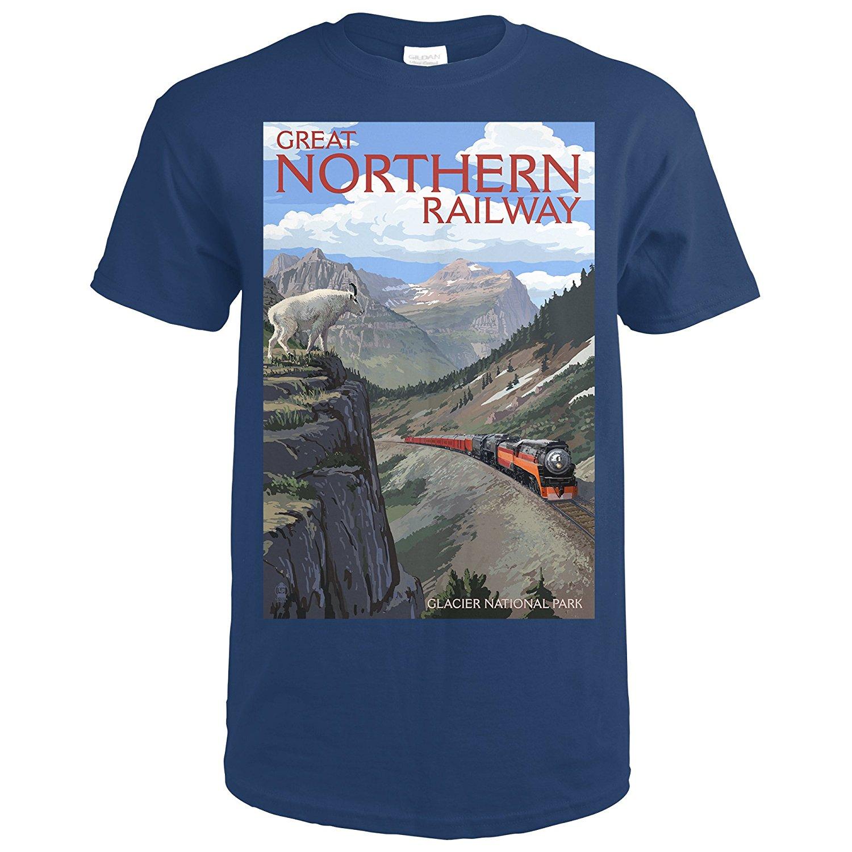 Gildan Glacier National Park, Montana - Great Northern Railway (Premium T-Shirt)