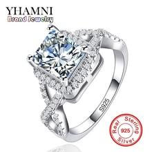 Купить с кэшбэком 90% OFF Big Sale Original Solid 925 Silver Ring Luxury 2.5 Carat Sona CZ Diamond Wedding Engagement Jewelry Rings for Women R065