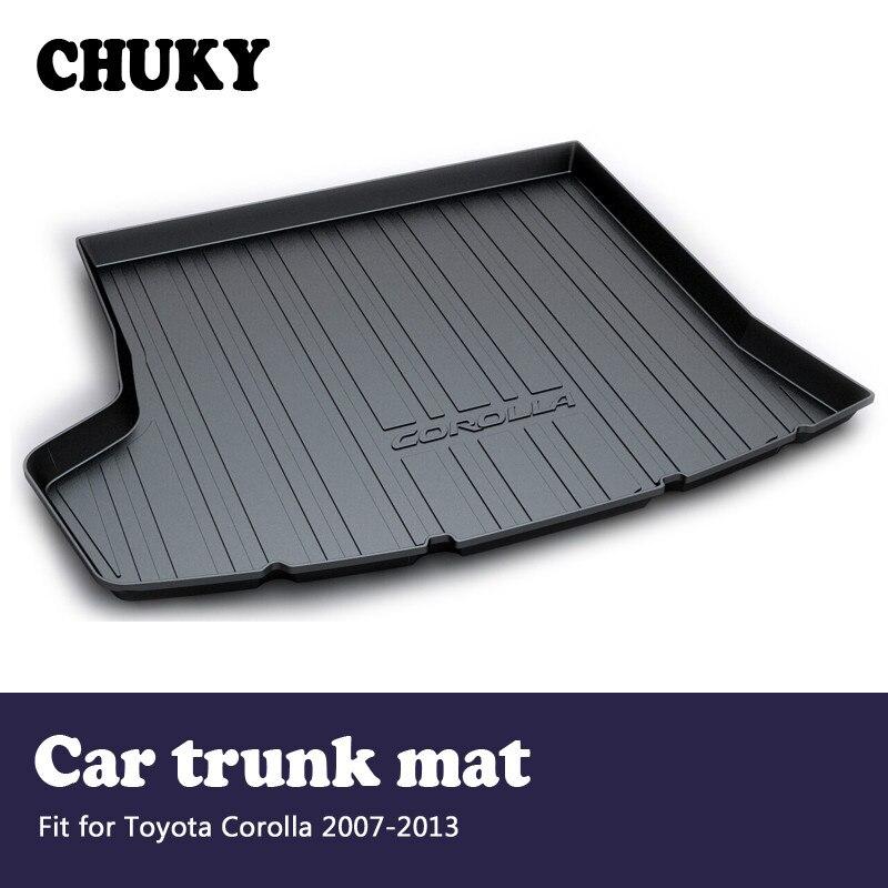 CHUNKY Pour Toyota Corolla E140/E150 2007 2008 2009 2010 2011 2012 2013Car Cargo arrière tapis de coffre Style tapis anti-dérapant Accessoires