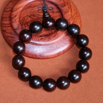 Authentic Natural iIndian Lobular Red Sandalwood beads bracelet 15mm for women gift high density with Venus rosewood bangle
