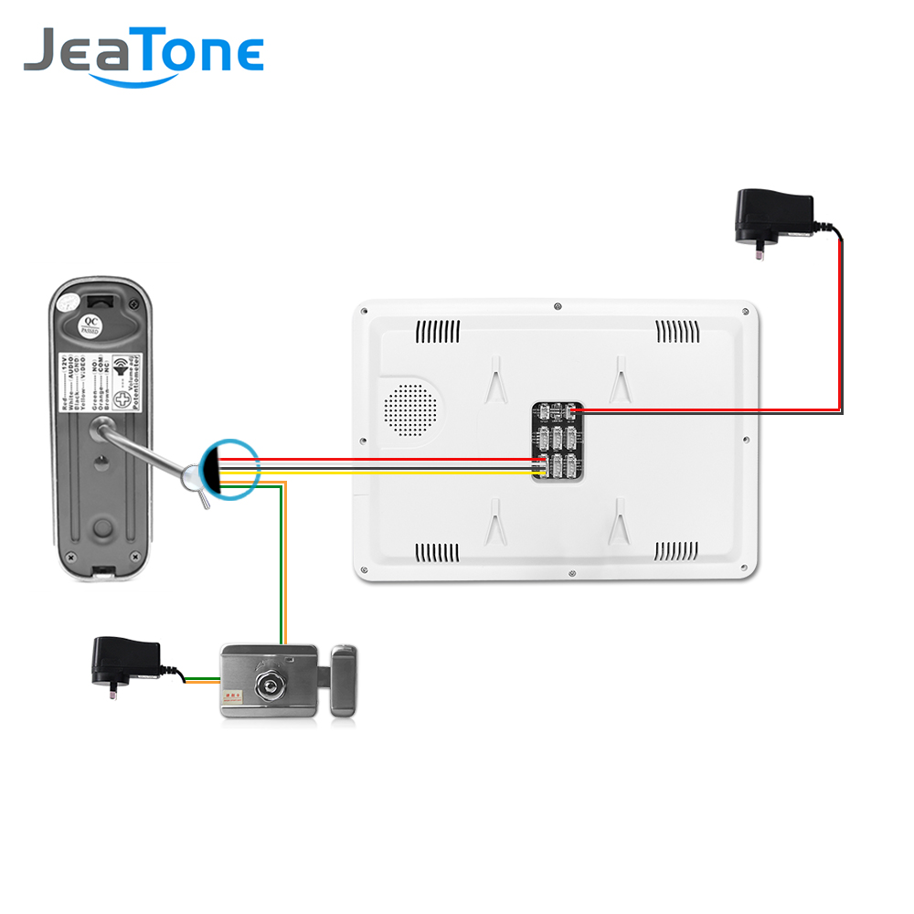 small resolution of 10 video door phone intercom doorbell system on door intercom surveillance wired system home security kit waterproof call panel in video intercom from