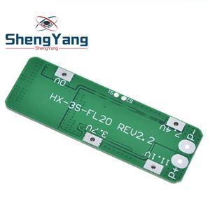 Image 3 - 3S 20A Li ion batterie au Lithium 18650 chargeur PCB BMS Protection conseil pour perceuse moteur 12.6V Lipo cellule Module 64x20x3.4mm