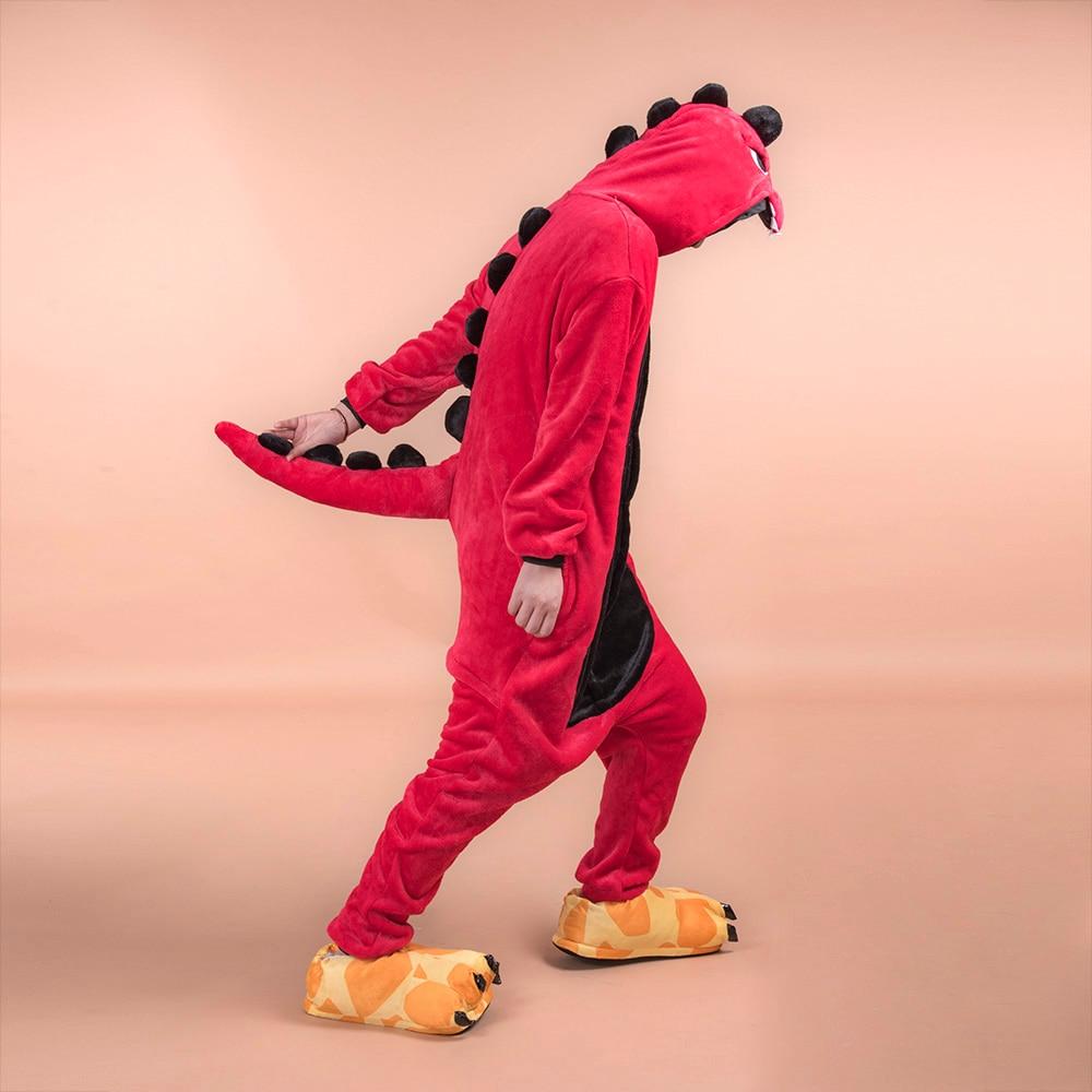 Adult Dinosaur Kigurumi   Pajamas     Set   Onesie Women Pyjamas Pijama Winter Animal Sleepwear Onepiece Onesies For Adults 2019