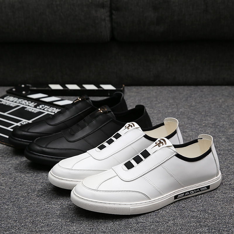 ФОТО England Design Men Loafers Luxurious Light and Hard-Wearing Men's Casual Shoes Outdoor Flat Heel Young Man Dress Flats