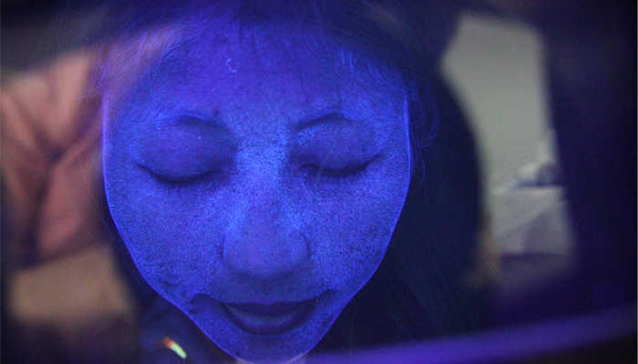 Taşınabilir Woods Lamba Güzellik Salonu Cilt Analizörü Cilt Test UV Büyüteç Işık Cihazı Cilt Sağlık Büyüteç Güzellik Yüz