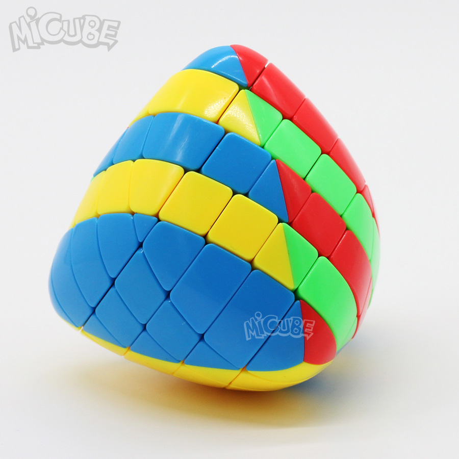 Shengshou Mastermorphix 5x5 Rice Dumpling Stickerless Magic Cubes Puzzle Toy Colorful Multicolor Special Hight Difficult 5x5x5